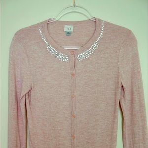A New Day - Target, embellished pink cardigan